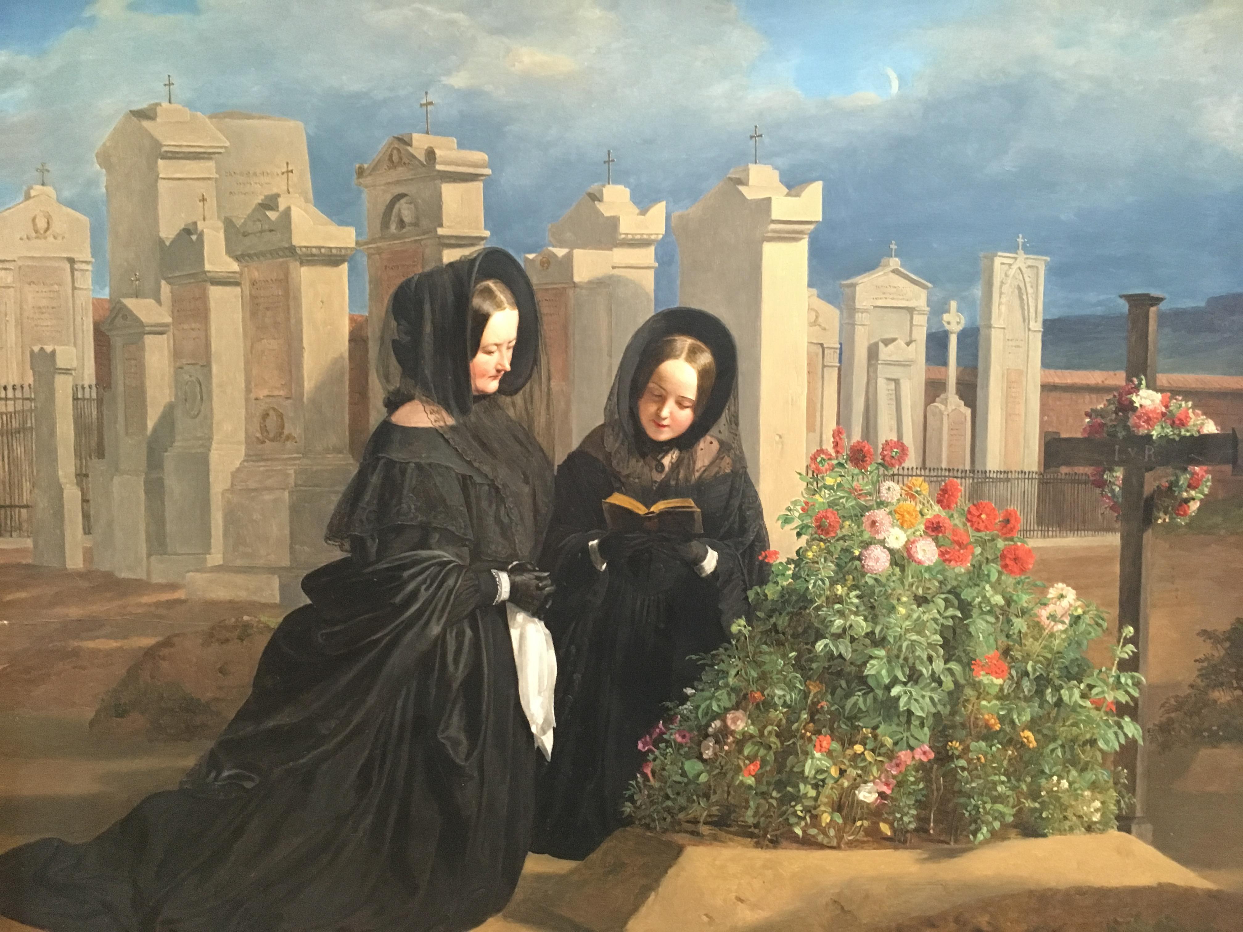 All Souls' Day, Ferdinand Georg Waldmuller, 1839