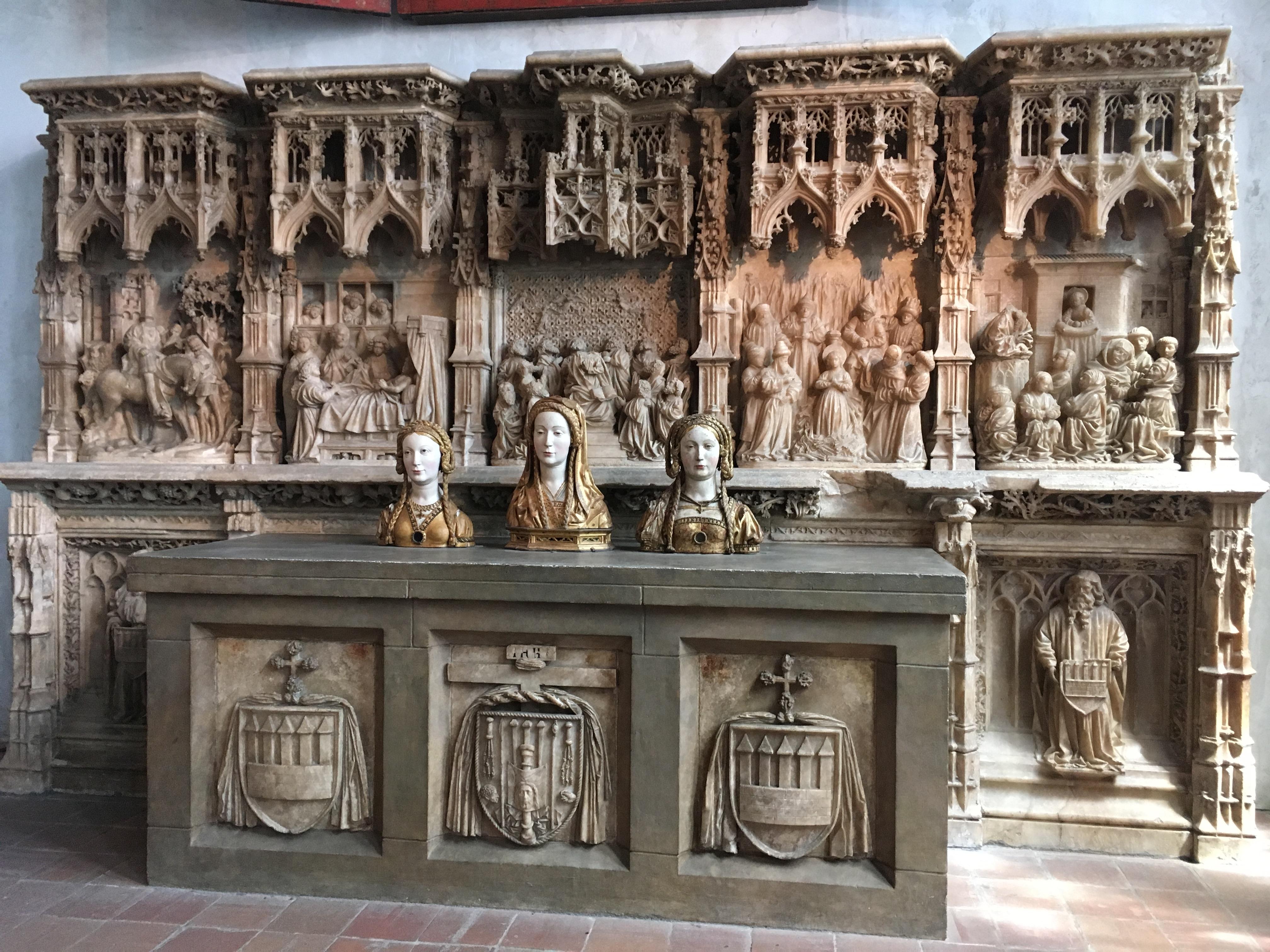 Cloisters altar and saints
