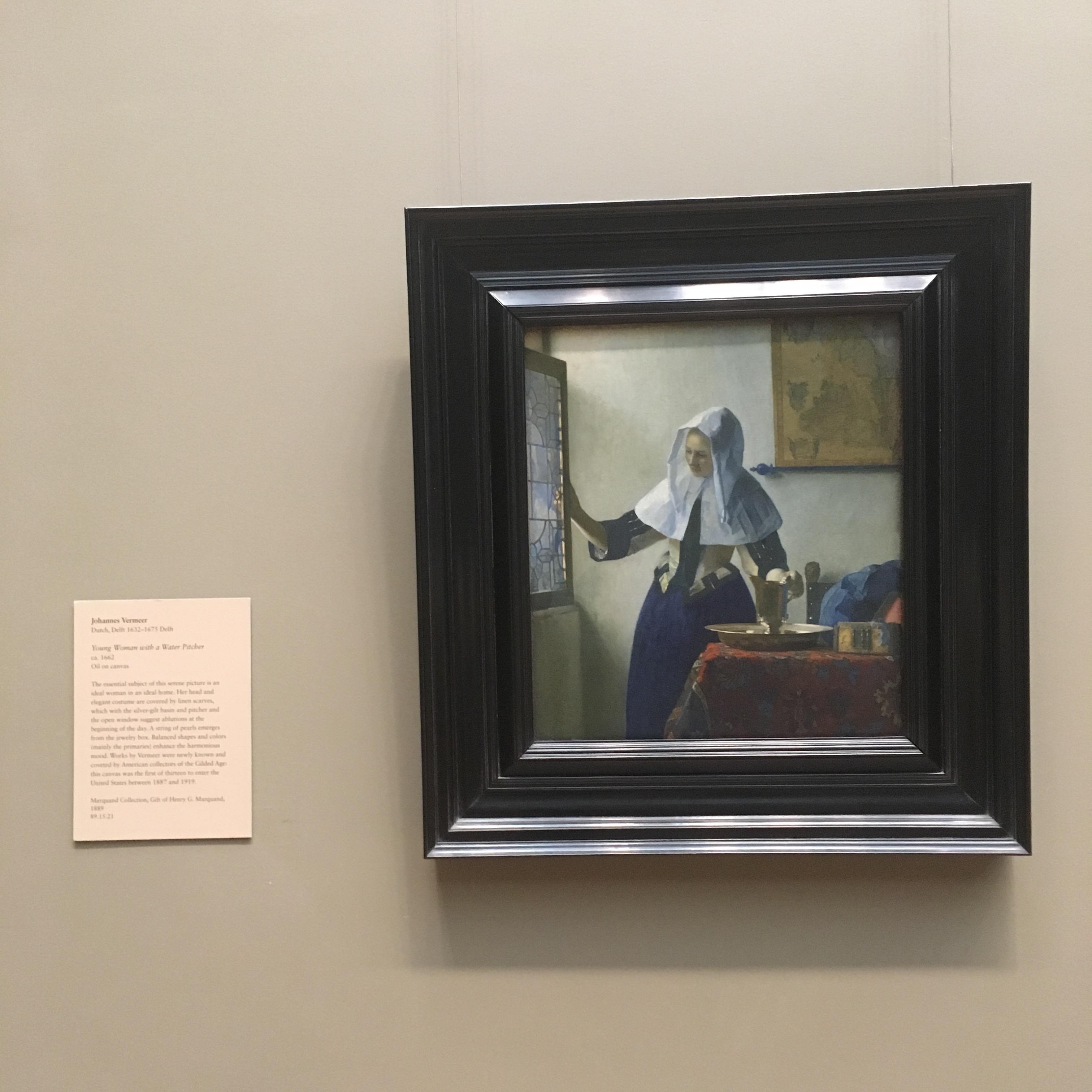 Women Holding a Pitcher, Vermeer