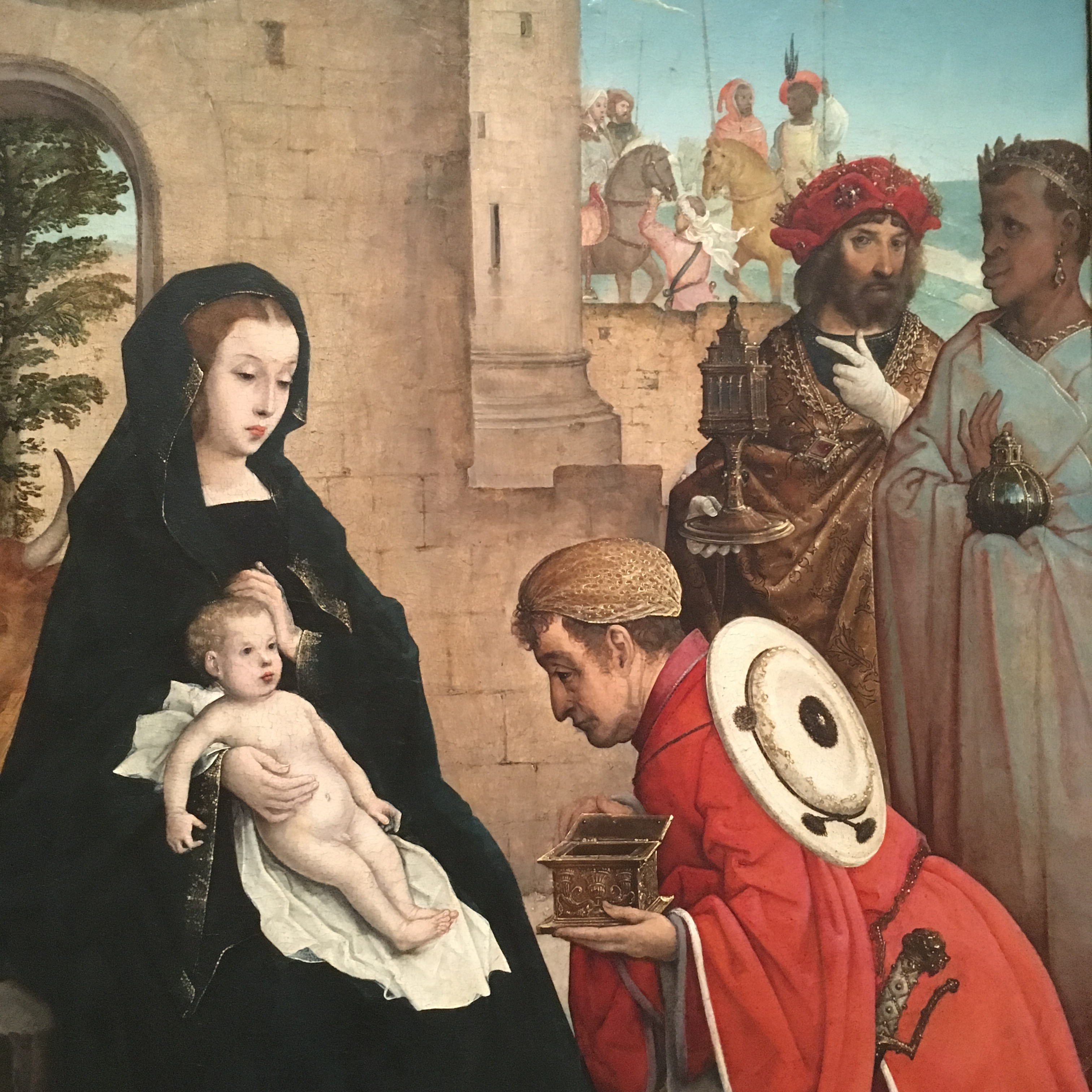 NGA-Juan de Flandes, Adoration of the Magi, 1508-1519-detail