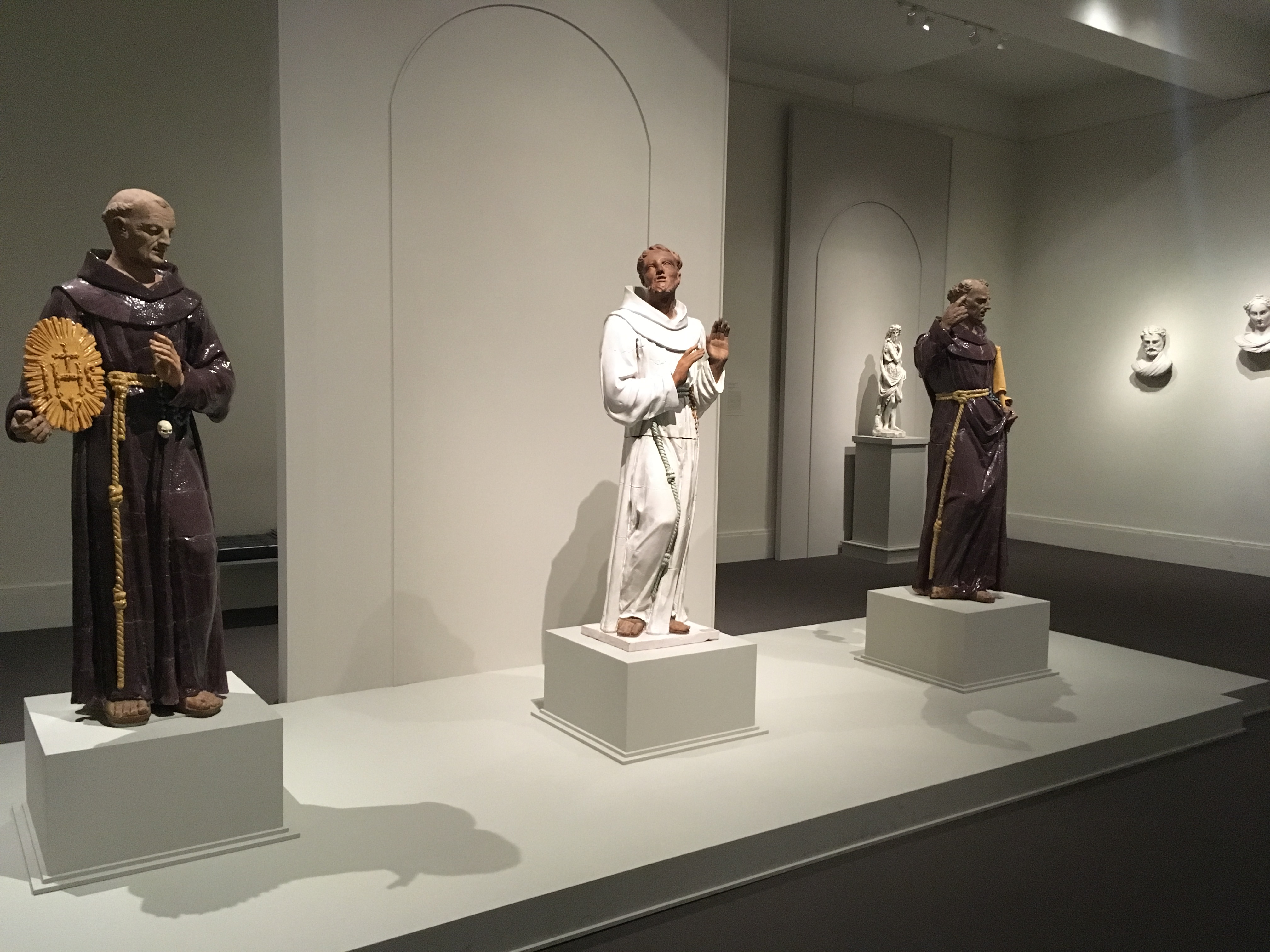 MFA-saints color statues