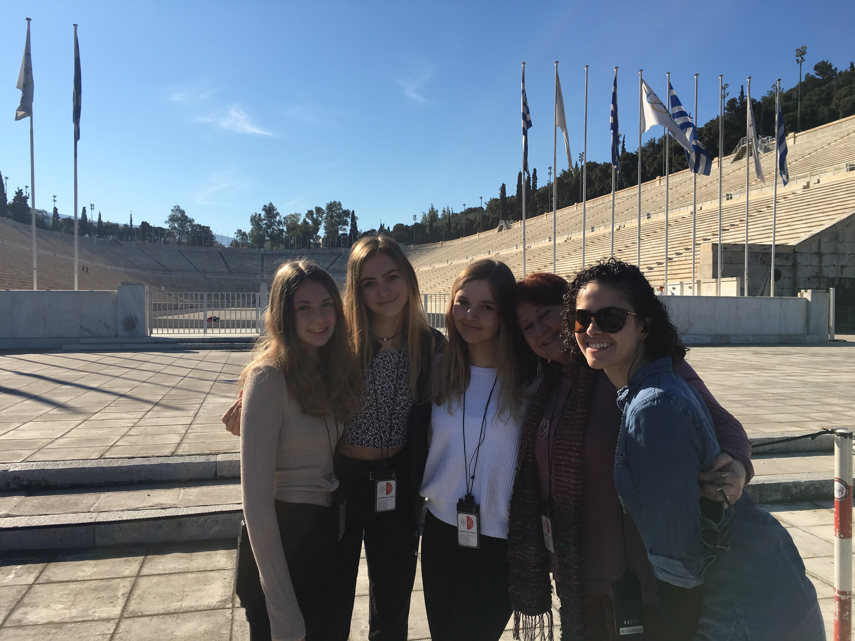 Olympic stadium with girls