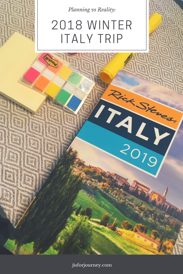 planning vs reality italy trip