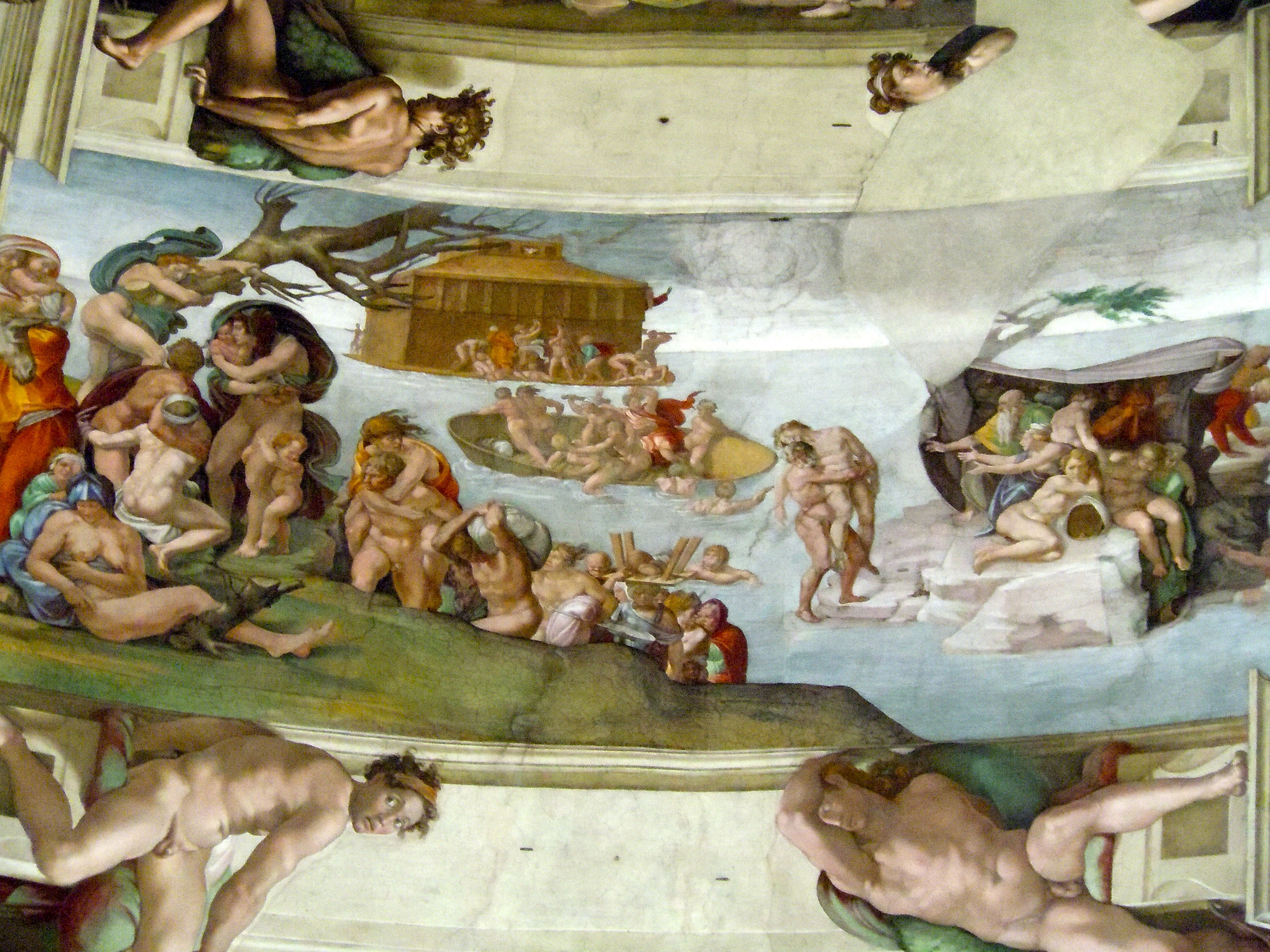 Sistine Chapel ceiling the flood