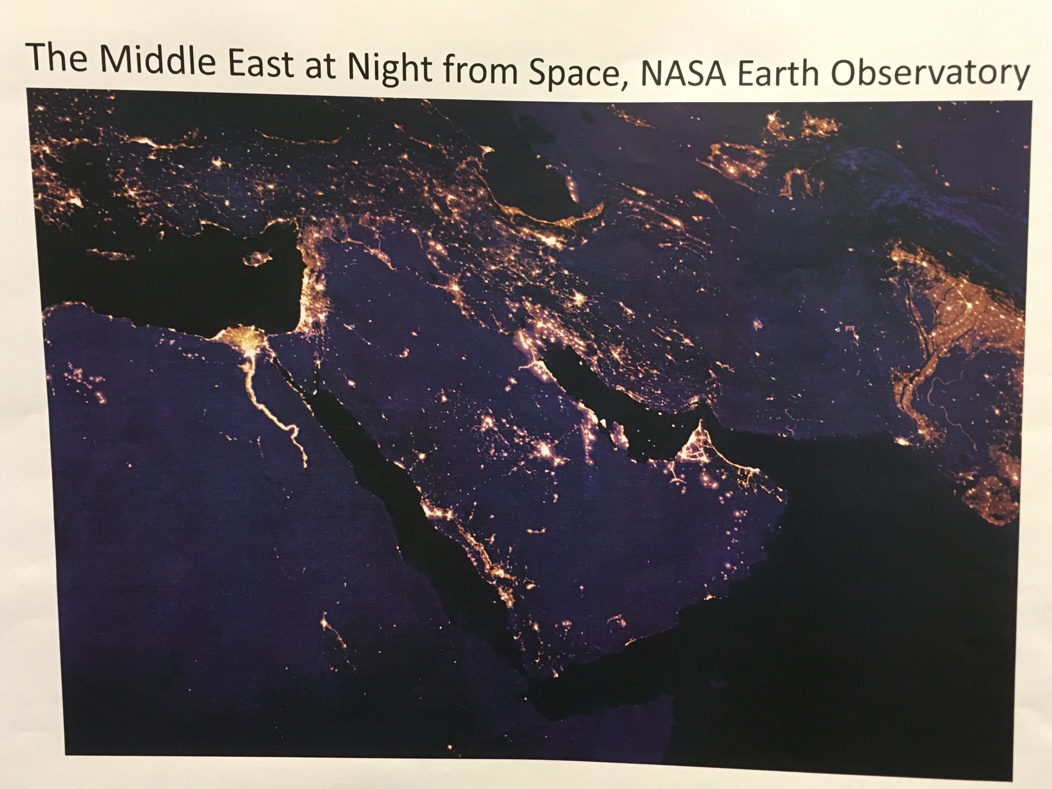 QFI map middle east night