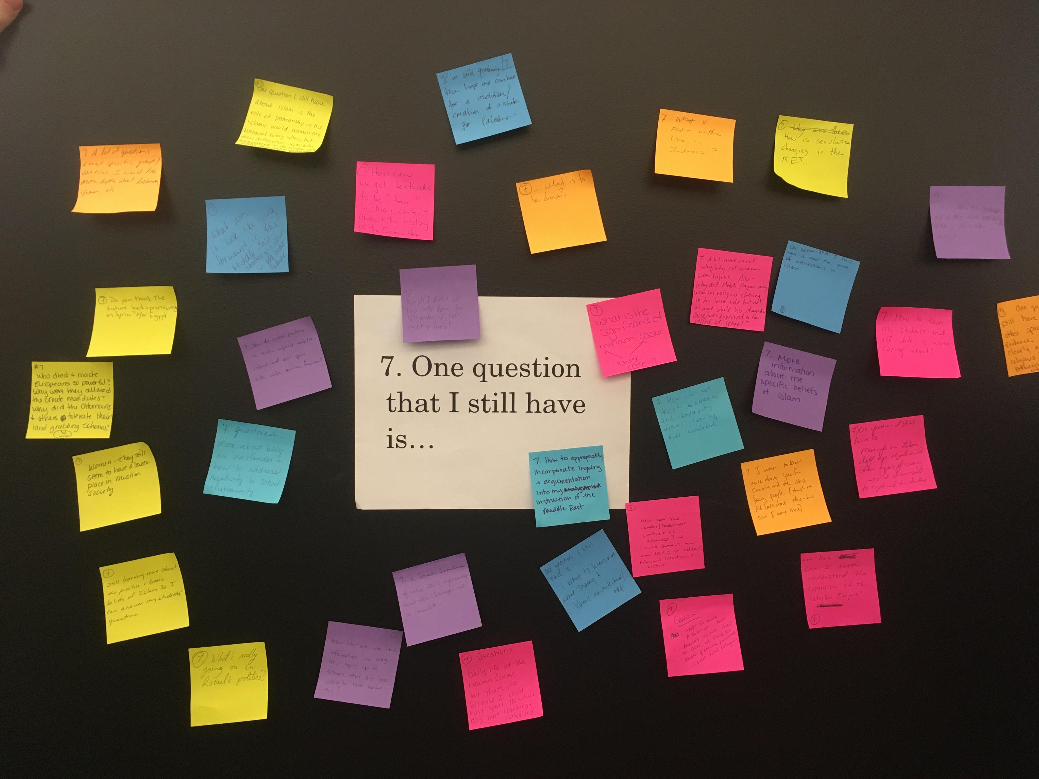 QFI post it note wall